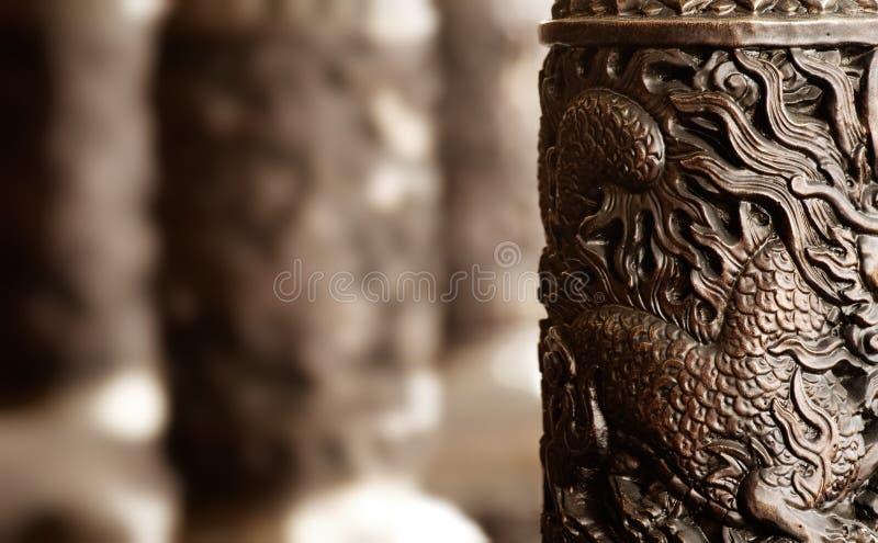 cyzelowania chińskiej dekoraci złoty styl zdjęcia royalty free
