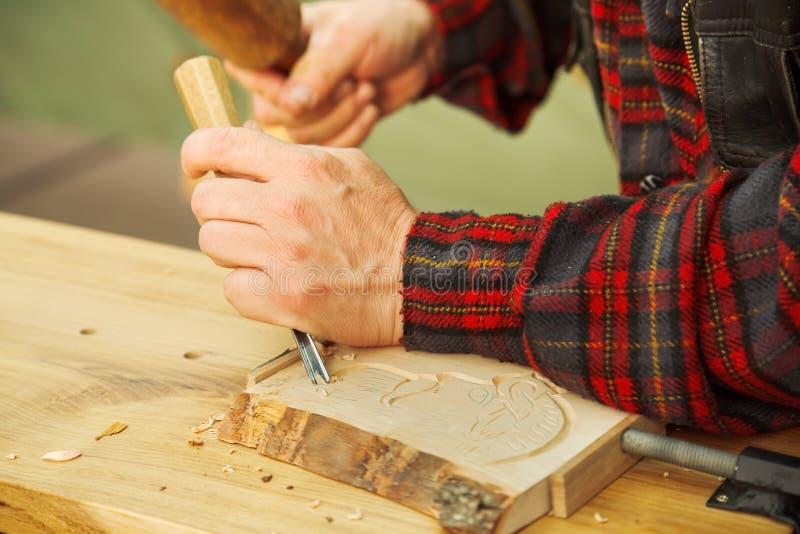 cyzelowania drewno zdjęcia royalty free
