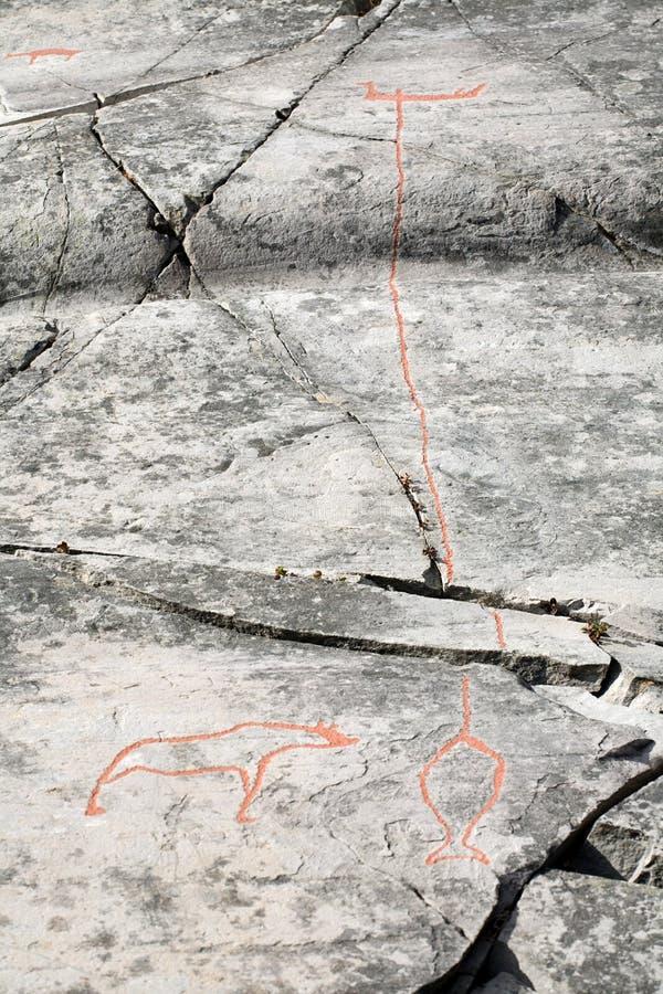 cyzelowanie pradawnych kamieni zdjęcia stock