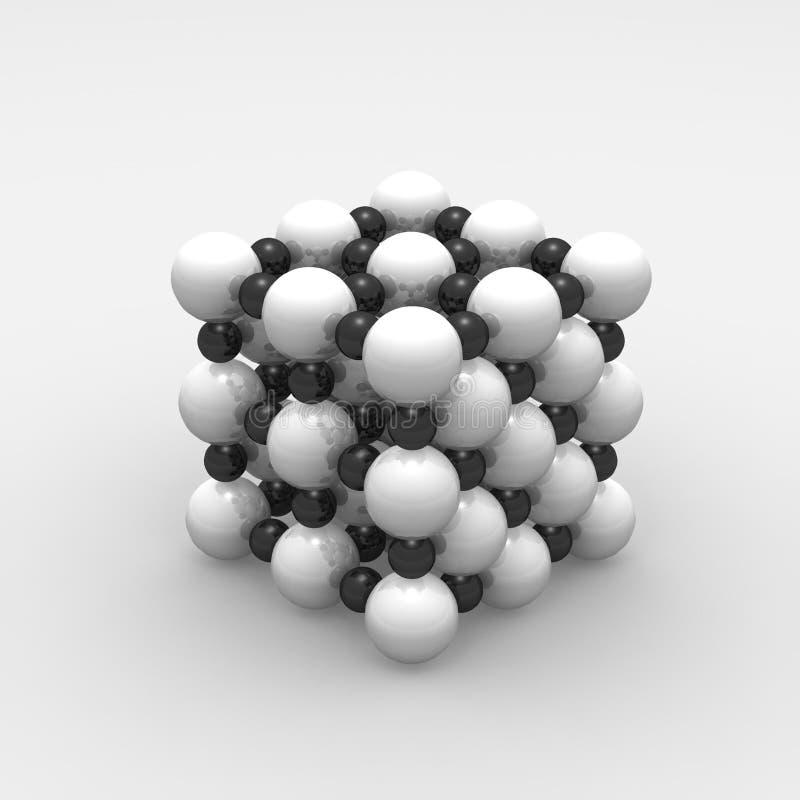 cząsteczki ilustracja wektor