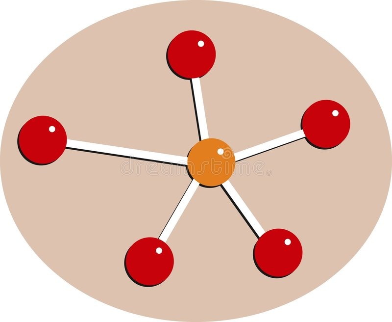 cząsteczki royalty ilustracja