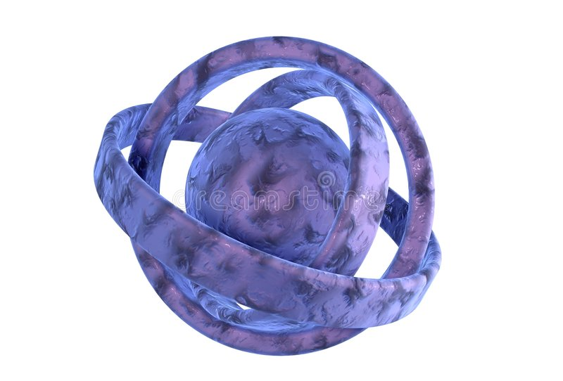 cząsteczki atomu royalty ilustracja