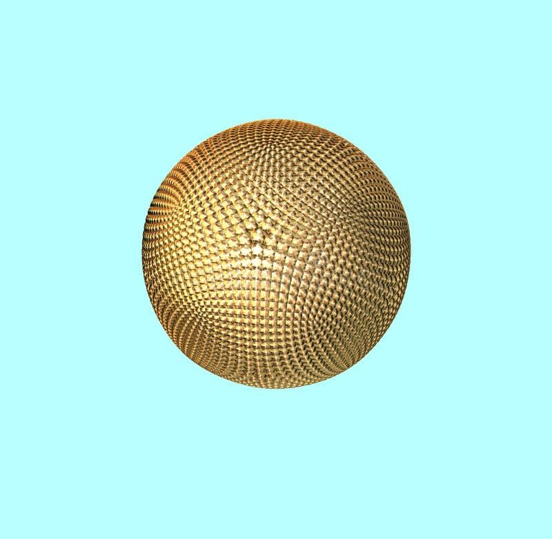 cząsteczki atomu złota ilustracja wektor