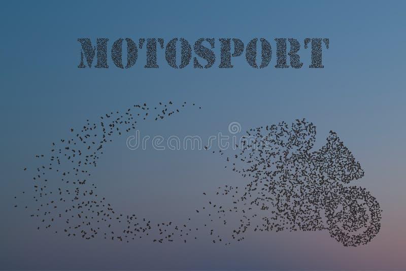 Cząsteczki motocykli/lów jeźdzowie przedsiębiorczy przez znaczenie wektoru ilustrację, pełno ilustracji