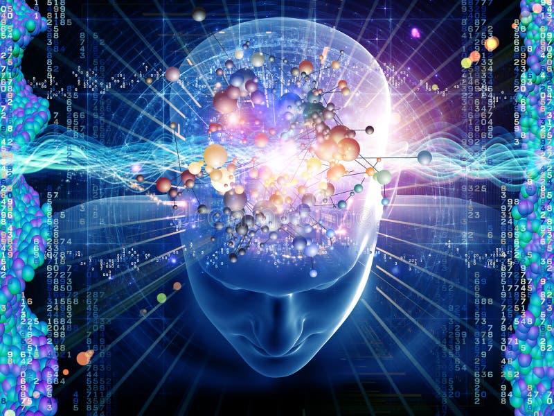cząsteczkowe myśli ilustracji
