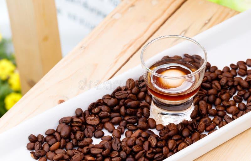 Cząsteczkowy Gastronomy jedzenie, Coffe Latte zdjęcia royalty free