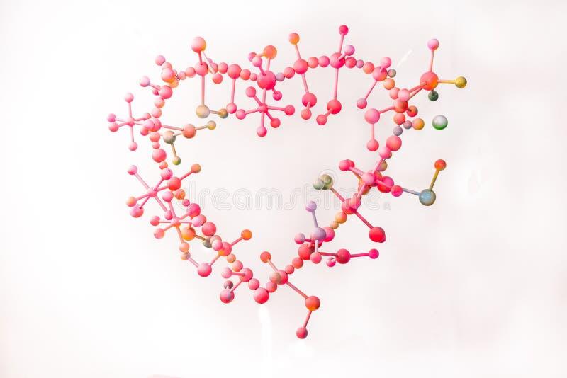cząsteczkowy miłość z harmonią fotografia royalty free