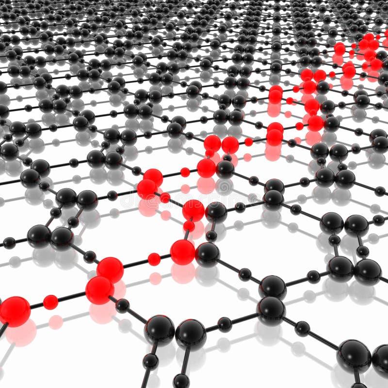 cząsteczkowy rozkład ilustracji