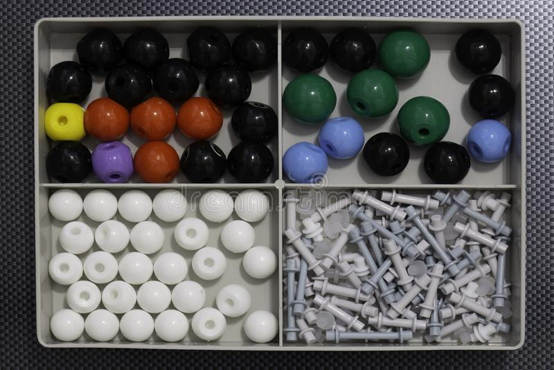 Cząsteczkowy wzorcowy chemii i fizyki nauki zestaw obrazy stock
