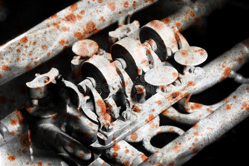 Część bardzo stara trąbka - Ośniedziała obraz royalty free