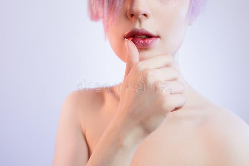 Część ciała portret piękna młoda kobieta obraz royalty free