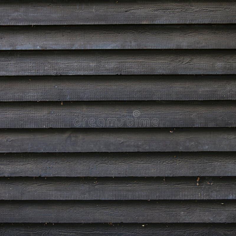 Część czarny drewniany ogrodzenie lub część stajnia fotografia stock