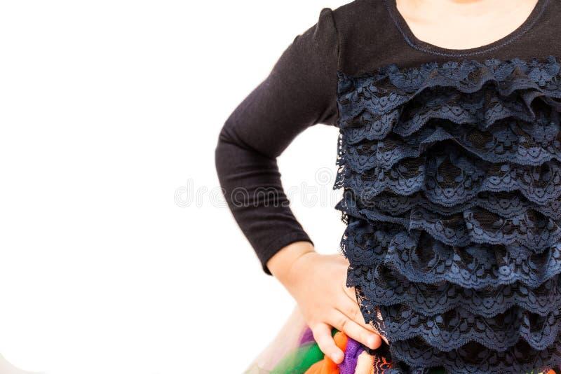 Część dzieciaka czerni bluzka z ruche fotografia stock