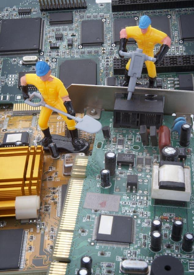 część komputerowa naprawa zdjęcia stock