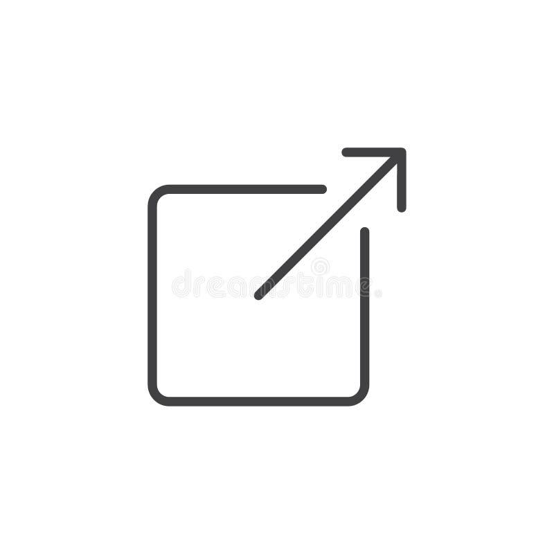 Część konturu ikona ilustracji
