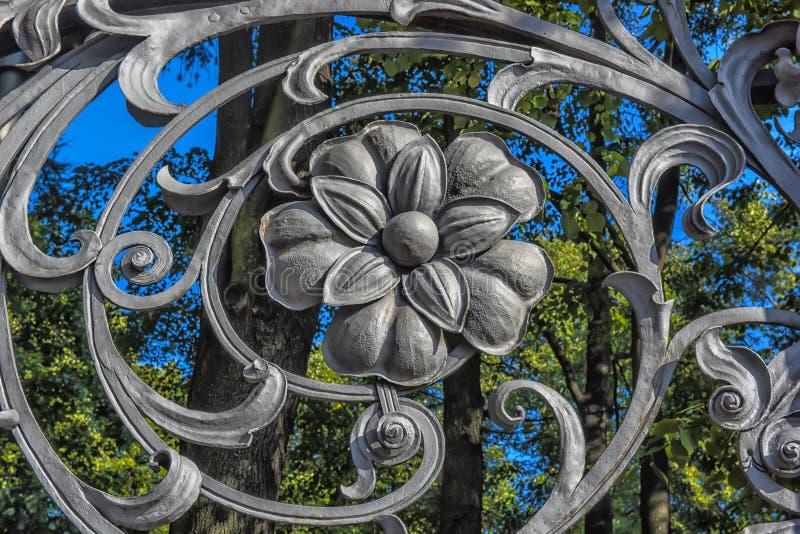 część Mikhailovsky ogródu ogrodzenie (Michael) fotografia stock