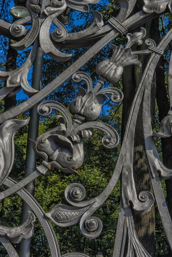 część Mikhailovsky ogródu ogrodzenie (Michael) obraz stock