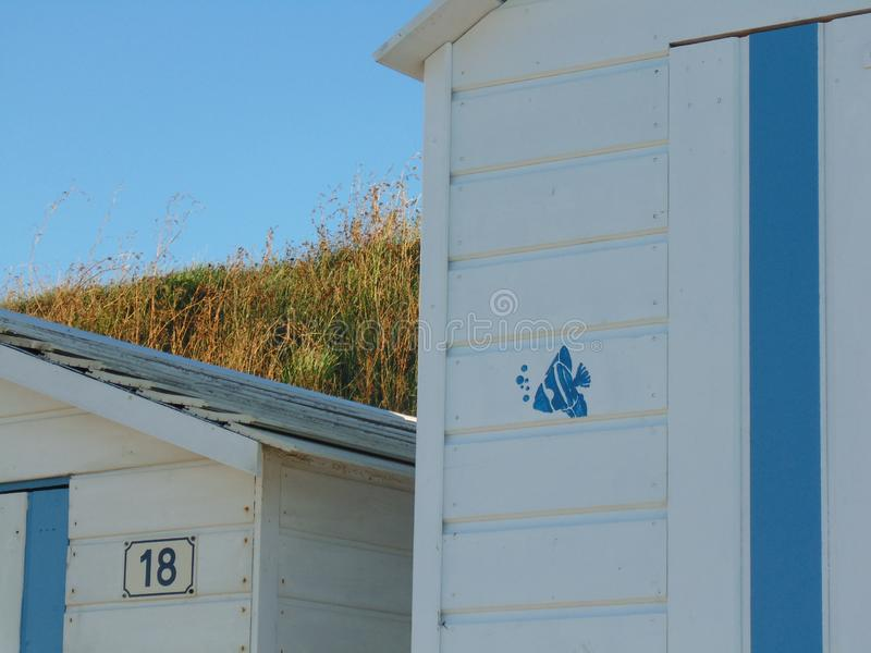 Część plażowe kabiny w lecie obrazy royalty free
