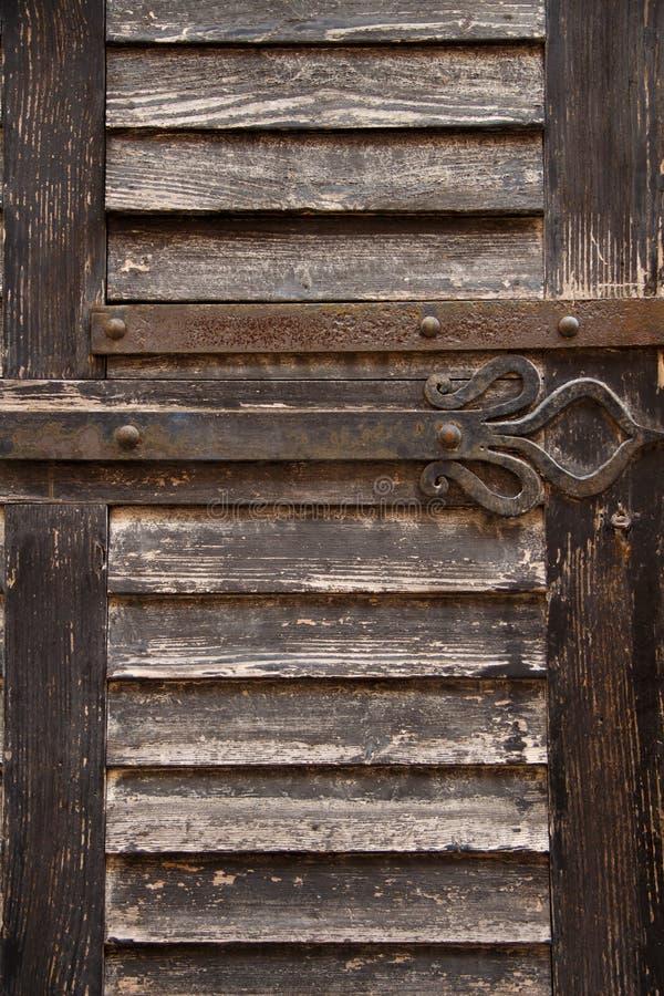 Część stary drewniany drzwi obraz royalty free