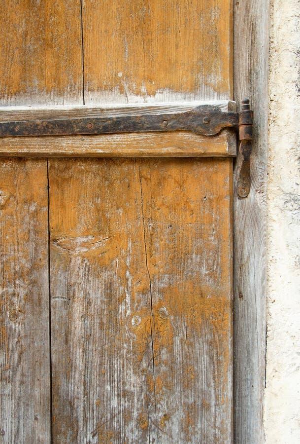 Część stary drewniany drzwi zdjęcia stock