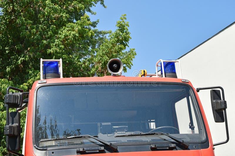 Część strażak ciężarówki pojazd obrazy stock