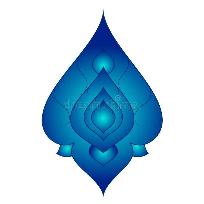 Część Tajlandzki sztuka wzór z błękitnym kolorem wydaje się jak urlop lub krople Wektorowi obrazy royalty free