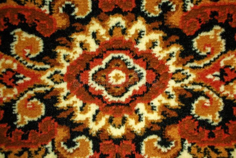 Część wełna dywan z wzorami w górę T?o zdjęcie royalty free