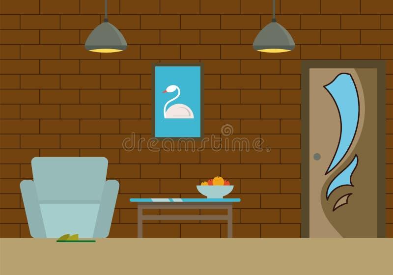Część Żywy pokój royalty ilustracja