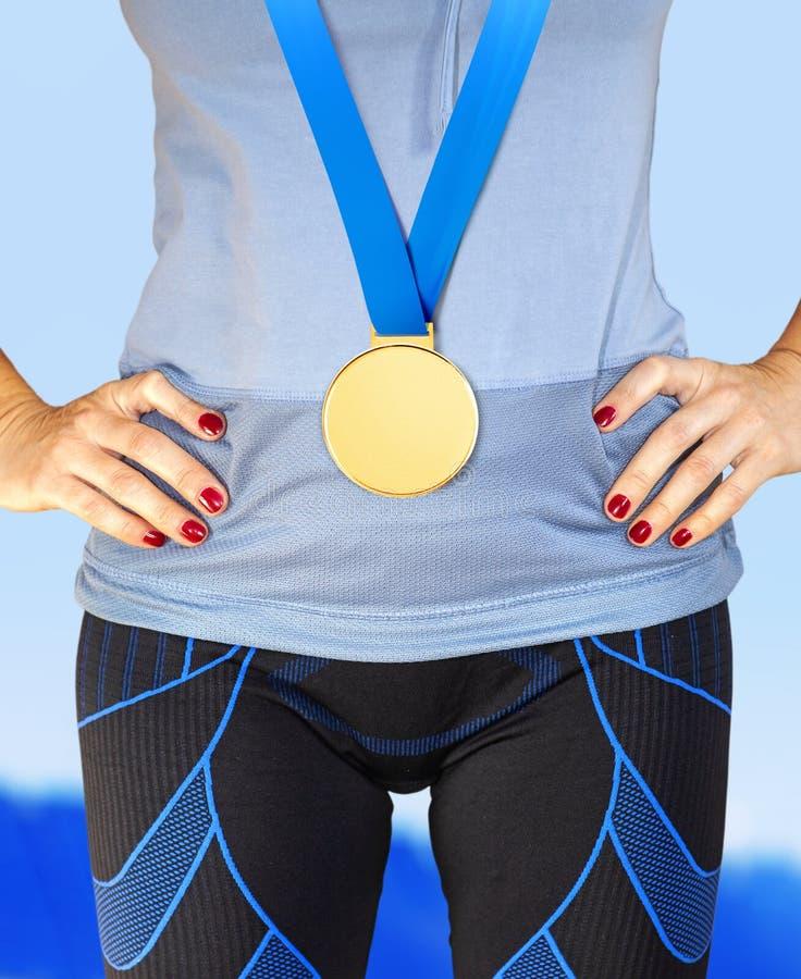 Część zwycięzca z złotym medalem obrazy stock