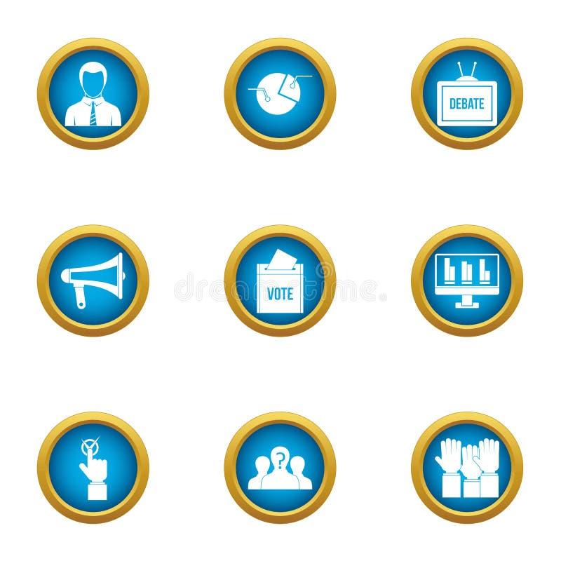 Części ikony ustawiać, mieszkanie styl ilustracja wektor