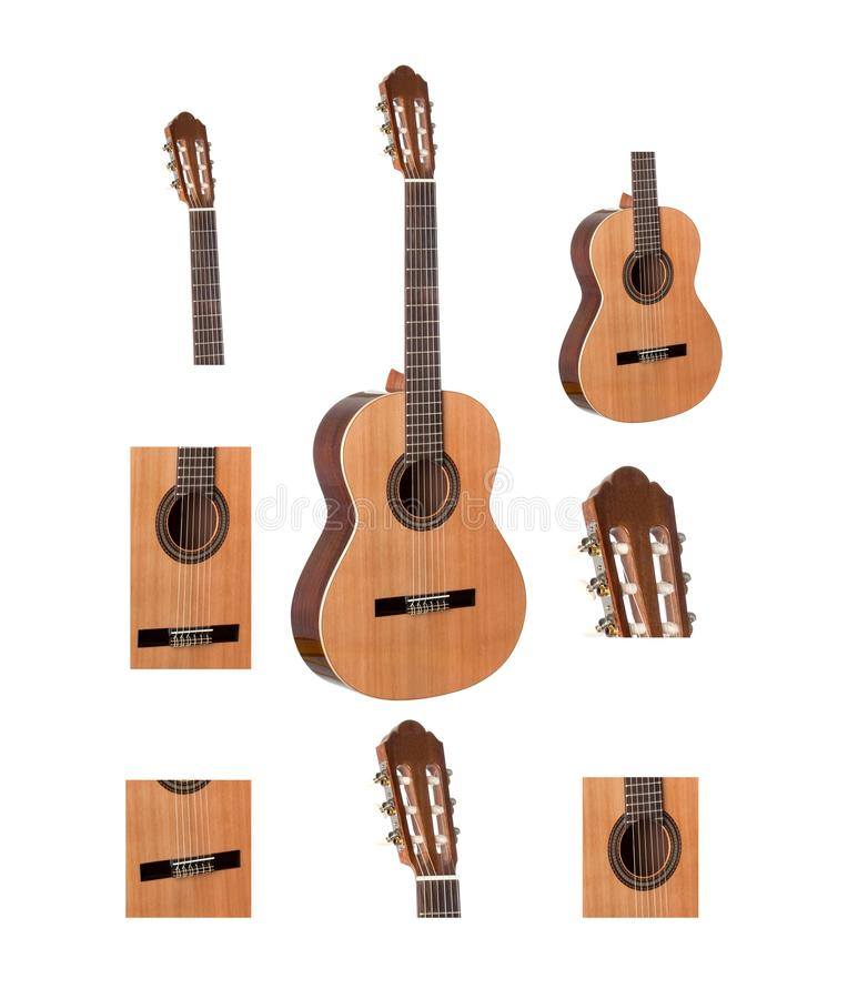 Części klasyczna gitara zdjęcie royalty free