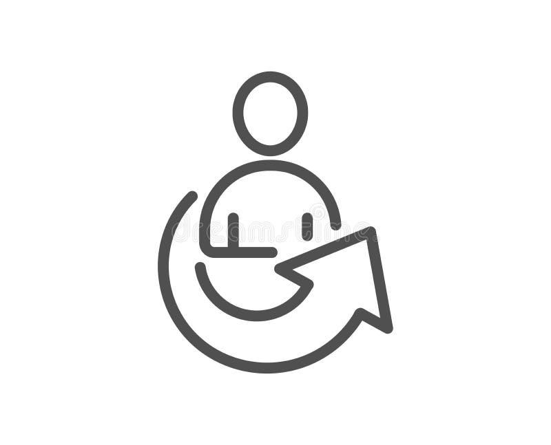 Części Kreskowa ikona Zarządzanie przedsiębiorstwem znak royalty ilustracja