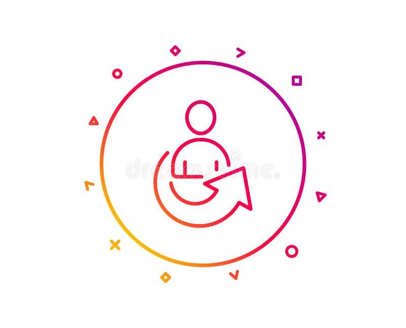 Części Kreskowa ikona Zarządzanie przedsiębiorstwem znak wektor ilustracji