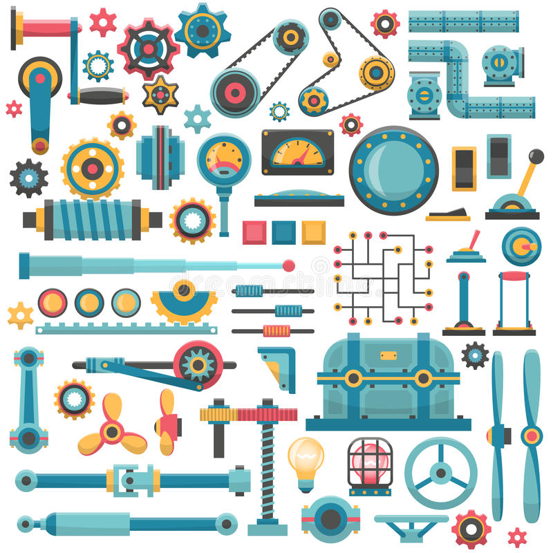Części maszyneria royalty ilustracja