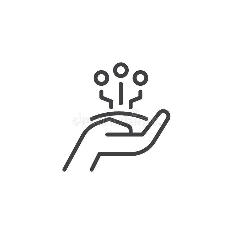 Części technologii konturu ikona royalty ilustracja