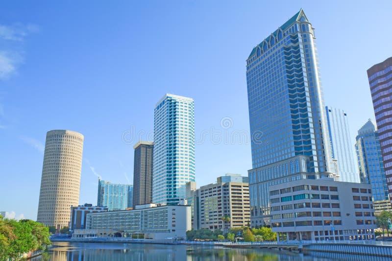 Częściowa linia horyzontu Tampa, Floryda obraz stock