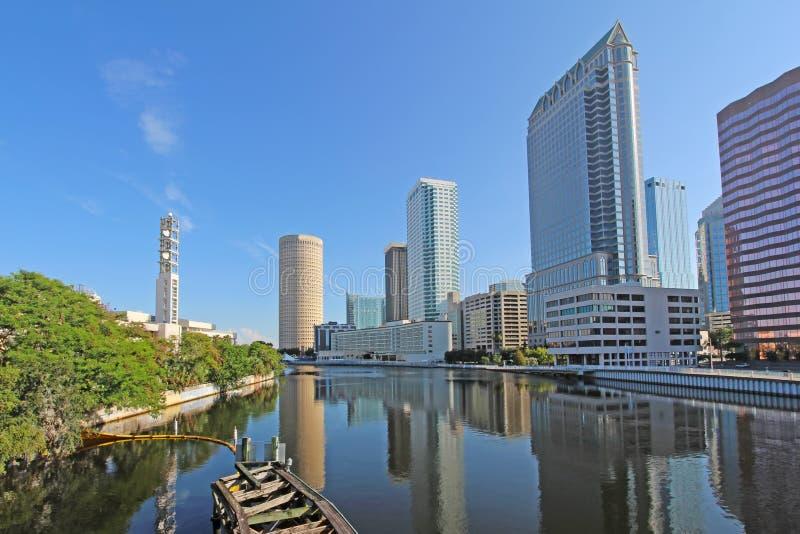 Częściowa linia horyzontu Tampa, Floryda obrazy royalty free