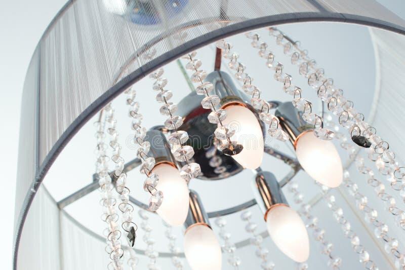 Często włączenie krystaliczni świeczniki z kryształami obraz stock