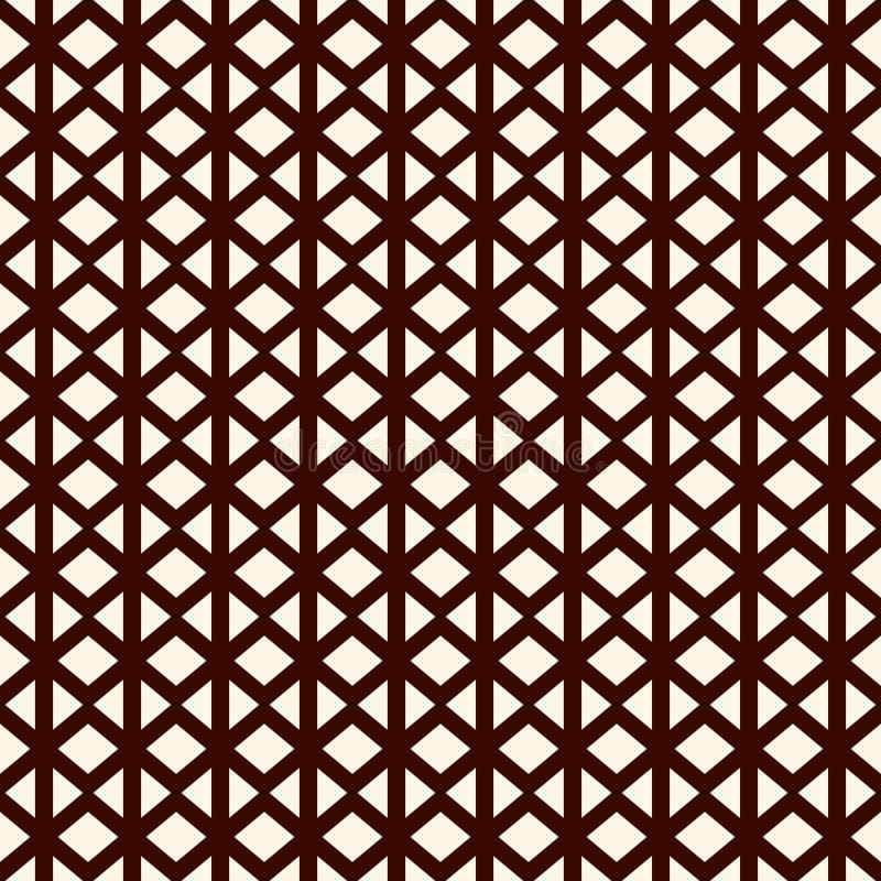 Częstotliwi mini trójboki na białym tle Prosta abstrakcjonistyczna tapeta Bezszwowy deseniowy projekt z geometrycznymi postaciami ilustracji