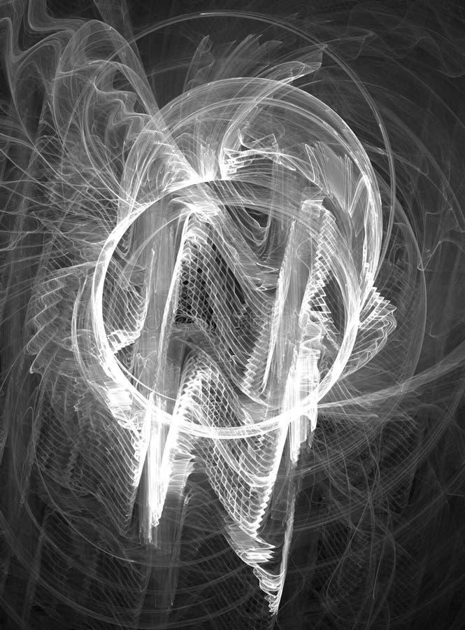 Częstotliwości światła białego czochr okrąg royalty ilustracja