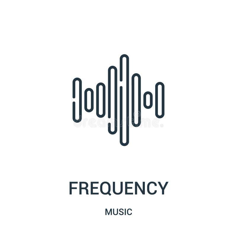 częstotliwości ikony wektor od muzycznej kolekcji Cienieje kreskowej częstotliwości konturu ikony wektoru ilustrację ilustracja wektor