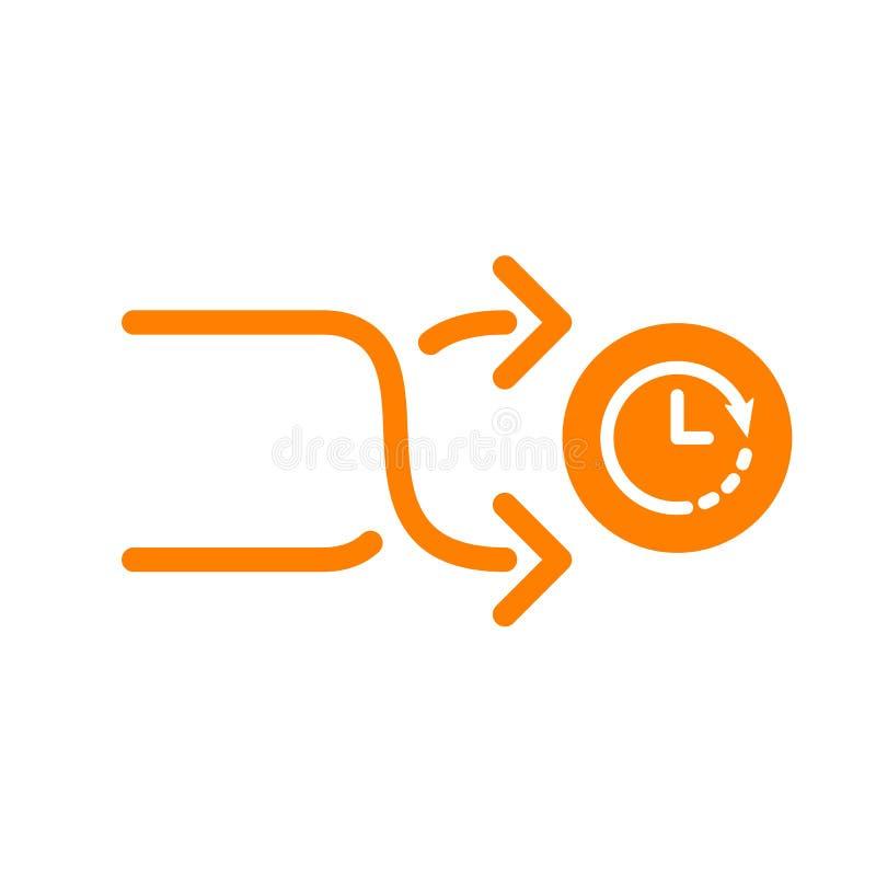 Człapie ikonę, strzała ikona z zegaru znakiem Człapie ikonę i odliczanie, ostateczny termin, rozkład, planistyczny symbol royalty ilustracja