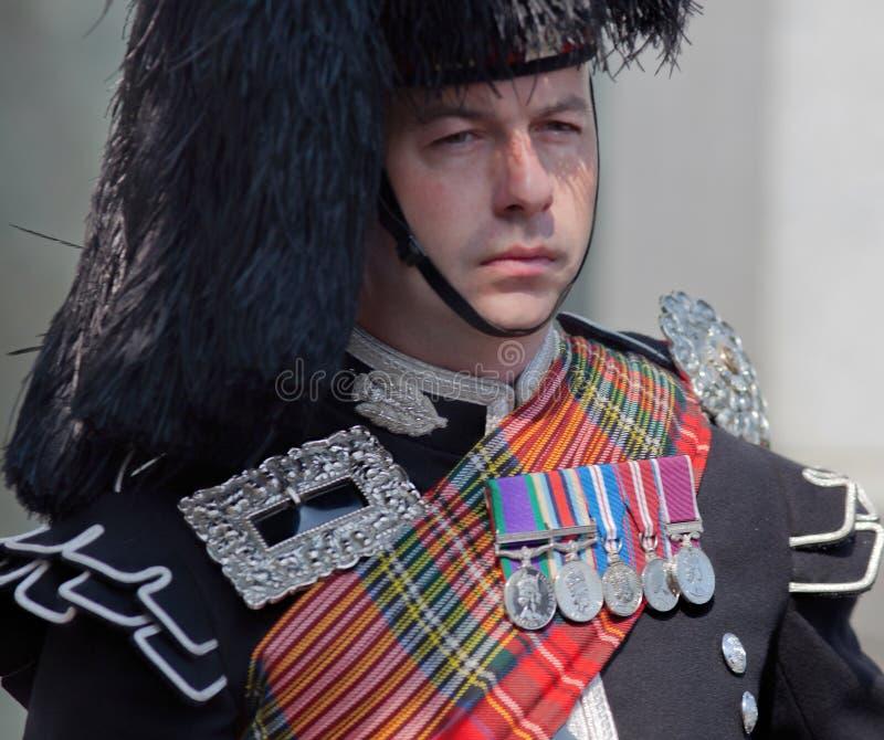 Członek Walijscy strażnicy, zwycięstwo w Europa dniu (V-E) zdjęcia stock