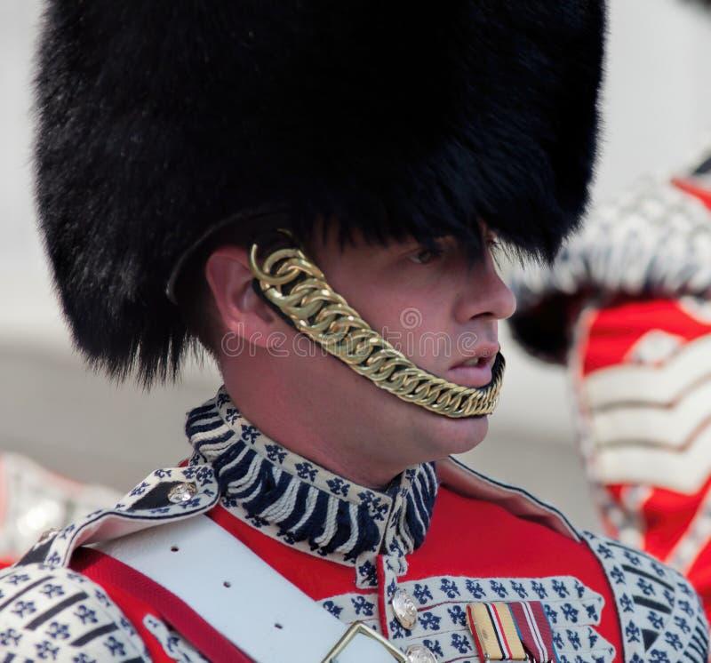 Członek Welsh strażnicy przy 70th V-E dnia rocznicą zdjęcie royalty free