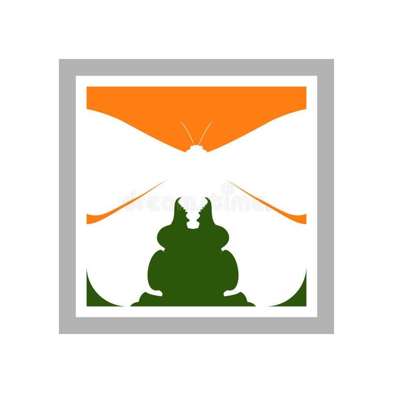 Członkonóg eksploraci symbolu Nadokienny projekt ilustracja wektor