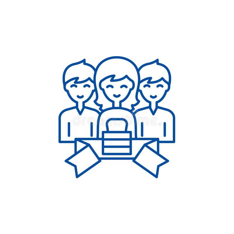 Członkostwo ikony kreskowy pojęcie Członkostwo płaski wektorowy symbol, znak, kontur ilustracja royalty ilustracja
