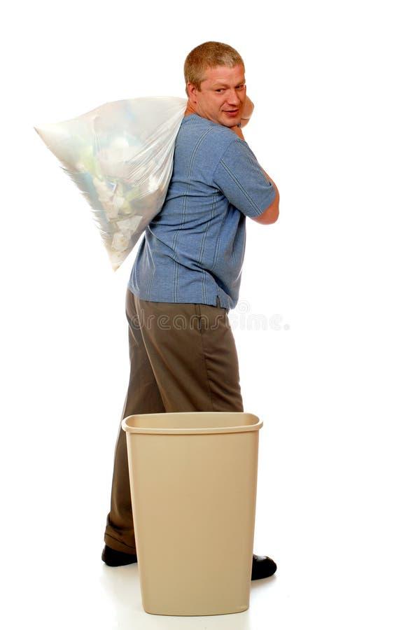 człowiek śmieci zdjęcia stock