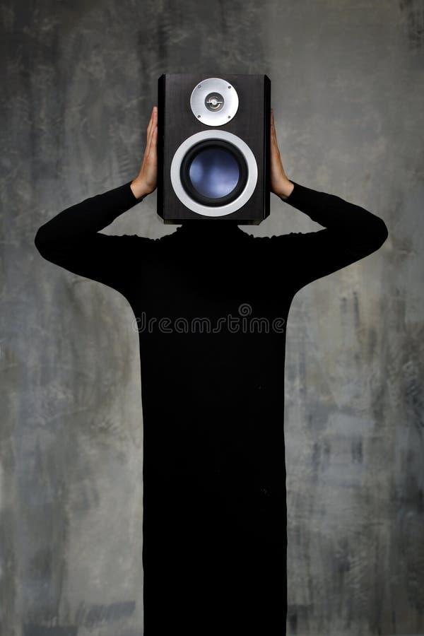 człowiek dźwięk obrazy stock