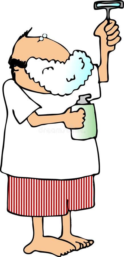 człowiek do golenia royalty ilustracja