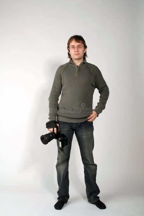 człowiek fotograf zdjęcie stock